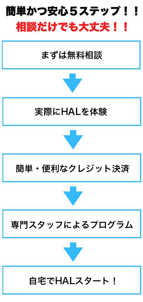 HAL導入までのステップイメージ - モバイル