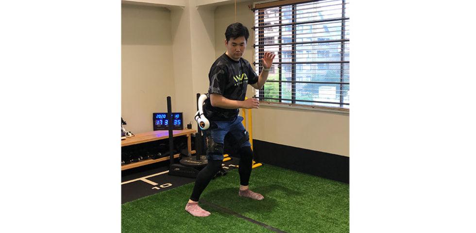 HAL腰タイプを使用したスイング運動のプログラム